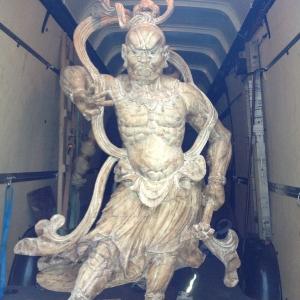 Sichere Ankunft antike Statuen